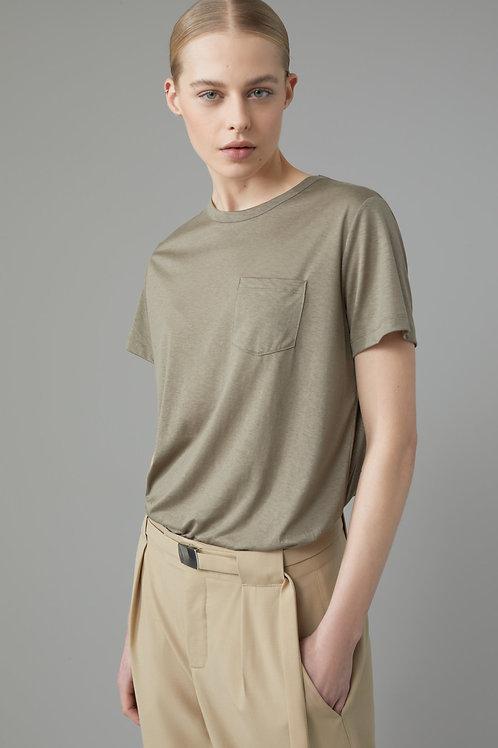Tencel™ & Cotton Drapy T-Shirt Closed
