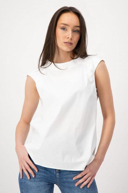 Mouwloos blouse Louis en Mia wit