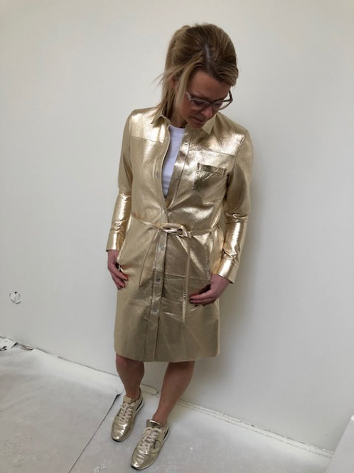 Pengha mid gold dress suite 22 leather