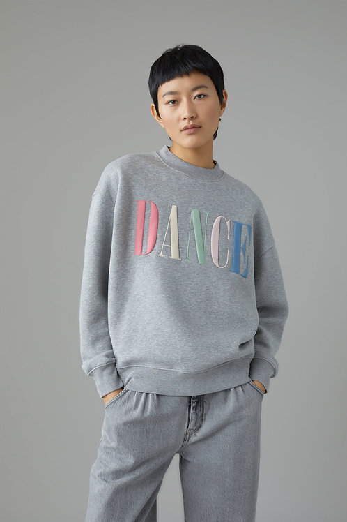 Sweatshirt with Embroidery Closed