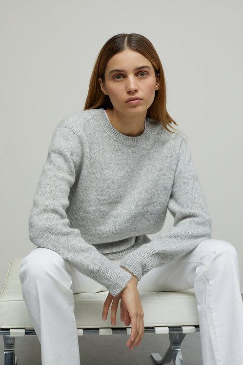 Royal Baby Alpaca Mix Crew Neck Sweater Closed