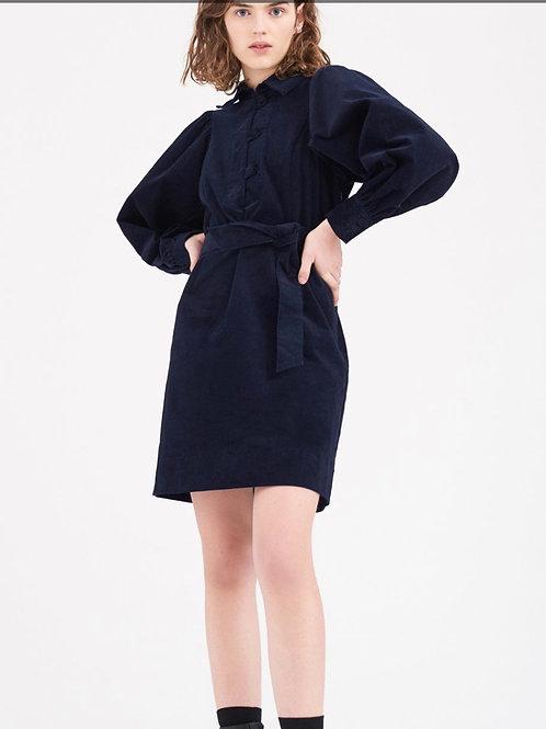 Mona dress dark blue velvet