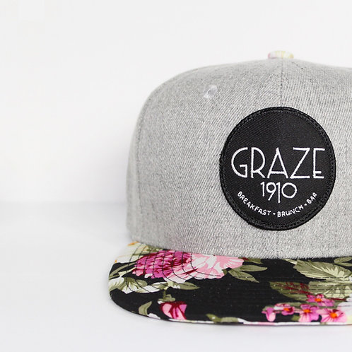 Graze 1910 Grey Floral Snapback Hat