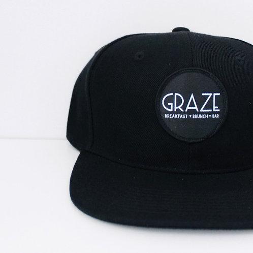 Graze Black Snapback Hat