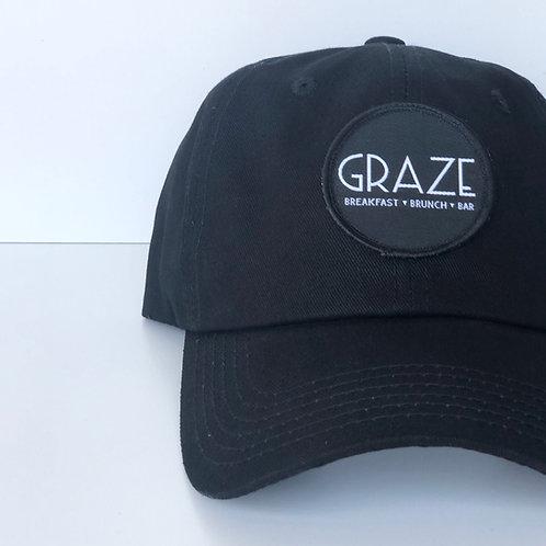 Graze Black Baseball Hat