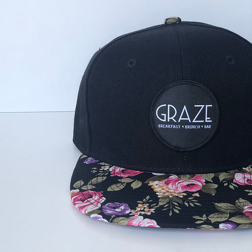Graze Pink/Purple Floral Snapback Hat