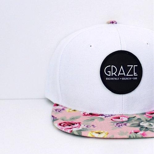 Graze Pink Floral Snapback Hat