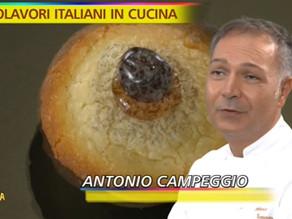 """Pasticciotti in tv, le bontà di Antonio Campeggio da Parabita a """"Striscia la notizia"""""""