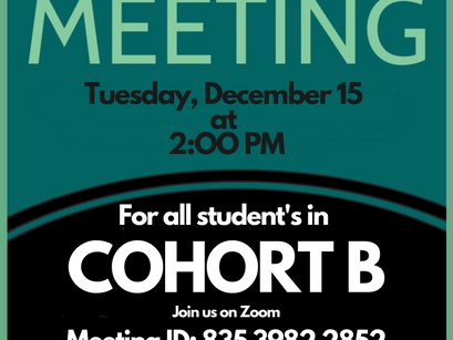 Mandatory Town Hall For students in Cohort B