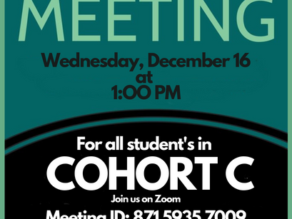 Mandatory Town Hall For Students in Cohort C