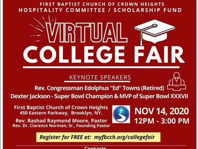Register Today for FBCCH Virtual College Fair
