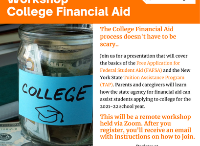Parent and Family Workshop College Financial Aid