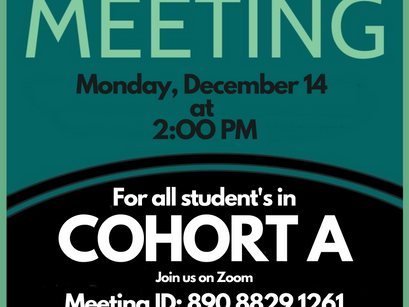 Mandatory Town Hall For Students in Cohort A