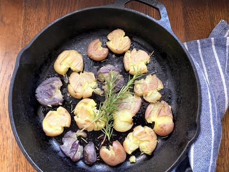 オーブンで仕上げるクラッシュトポテト