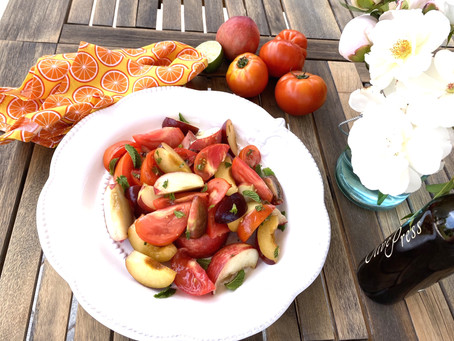 エアルームトマトとストーンフルーツ