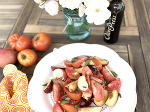Heirloom Tomatoes with Stone Fruits