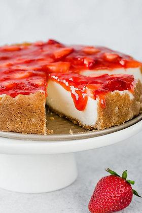 Dessert: Lemon Cheesecake w/strawberry sauce