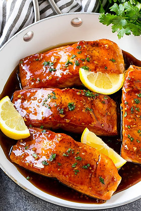 Honey Garlic Roasted Salmon