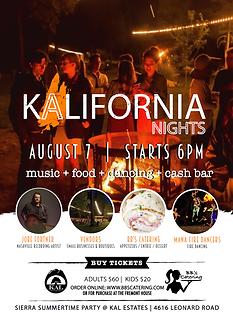 KALifornia Nights - Adult & Child Tickets