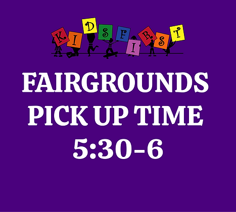 Pick Up Time: 5:30-6