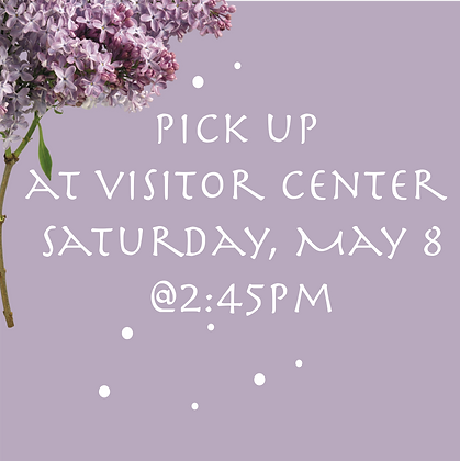 Pick up at the Visitor Center - 2:45
