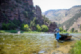 Drift Boat on Utah's Green River Casting a fly rod