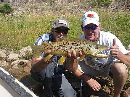 Jordan Gillespie, brown trout, client