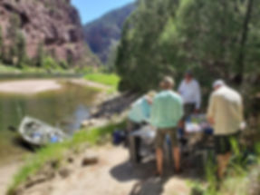 Guide Lunch on Utah's Green River