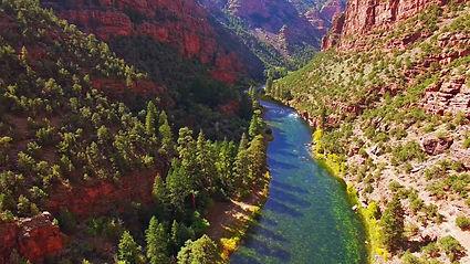 Aerial Shot Utah's Green River
