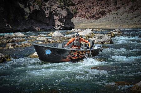 Scott Barrus, rowing, pavati drift boat