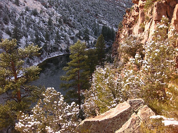 snow on the A Section of the Green River