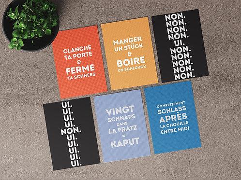 """Carte postale """"Voyage linguistique en Moselle"""""""