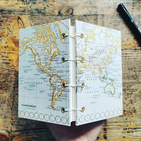 Petit carnet de voyage Planisphère