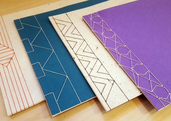 Reliures japonaises sur papier Pinnawala