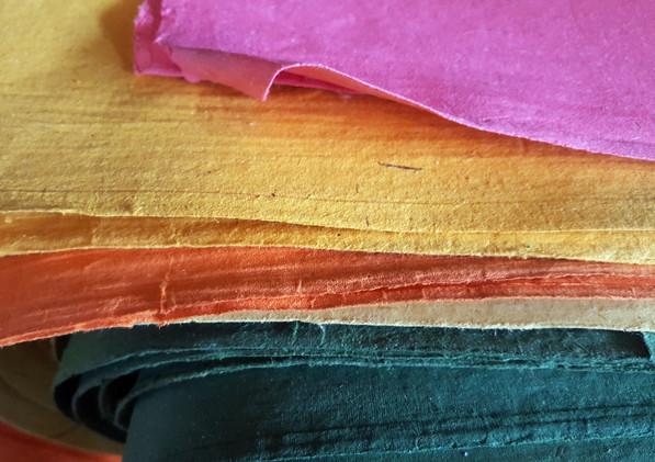 Papier recyclé à partir de bouse d'éléphants