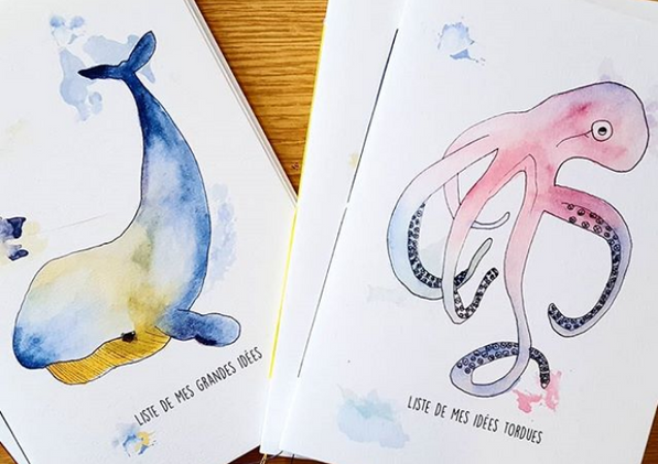 Aqua baleine pieuvre