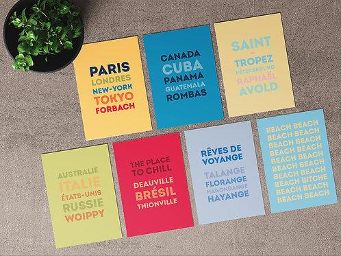 """Carte postale """"Voyage exotique en Moselle"""""""