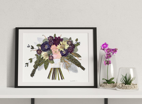 How to Stylishly Display Your Wedding Photos and Pressed Bouquet in Your Home