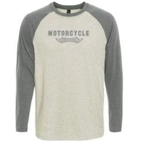 Men's or unisex Raglan  long sleeve T shirt