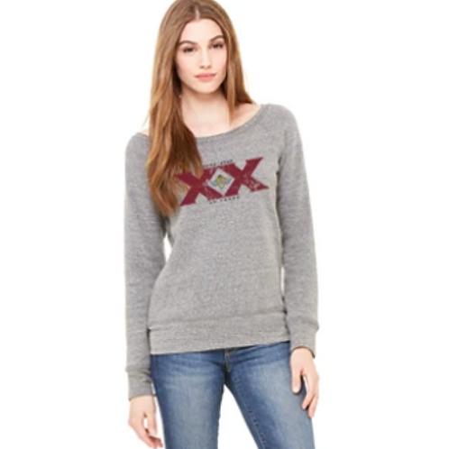 Special 20th Anniversary Ladies Vintage Style Crew Neck Sweatshirt