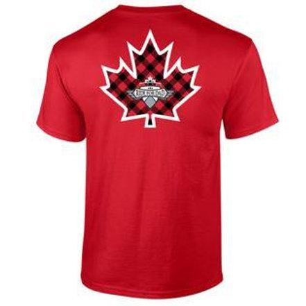 Thank you Canada - Plaid Maple logo back