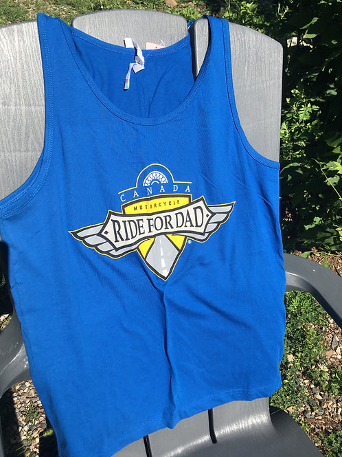 Men's/unisex royal blue tank