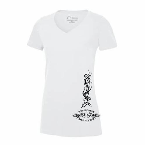 Ladies V neck Side tattoo T shirt
