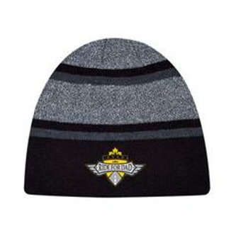 Toque  - Grey and Black with Embroidered Logo