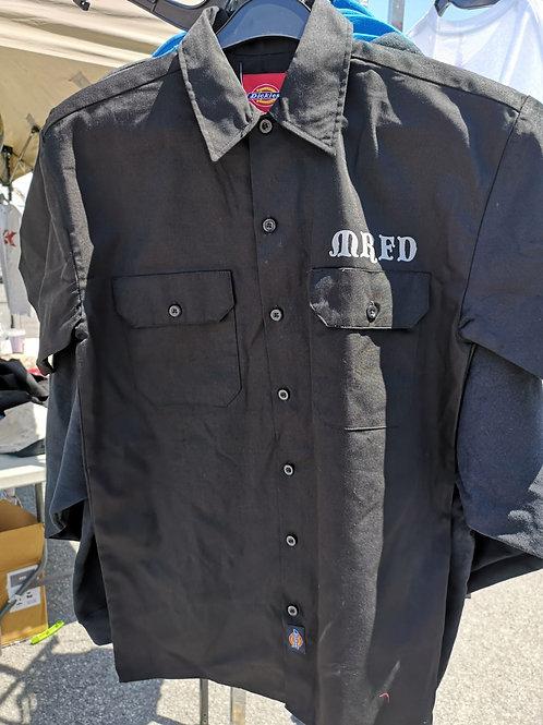 Black short sleeved Button up Mechanics Shirt by Dickies