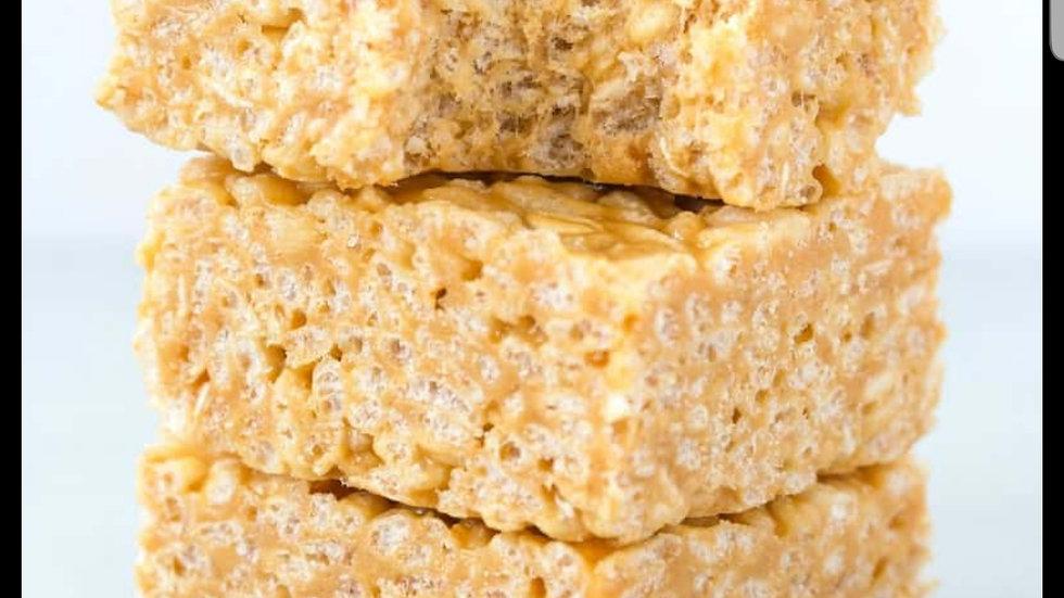Peanut Butter Rice Crisper Bars-6
