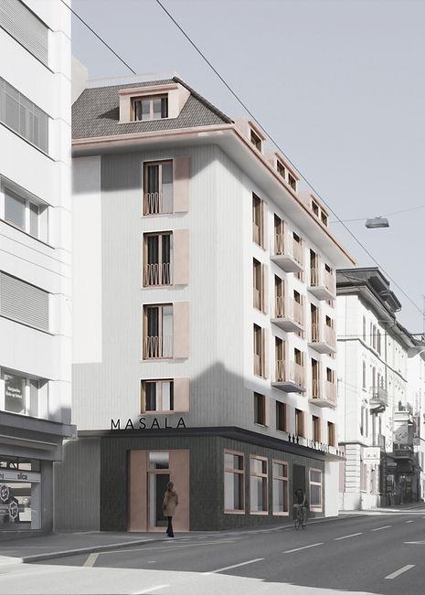 Umbau Neubau Denkmalschutz Architektur Zürichstrasse 55/ 57 Luzern