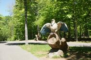 Statue aigle en bois