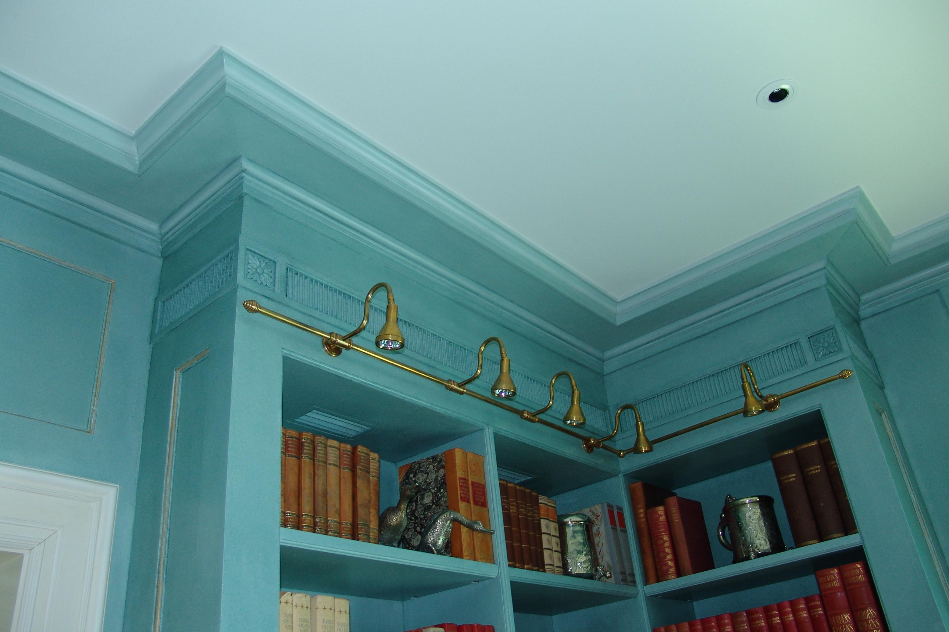Bibliotek, taklister, ornamenter