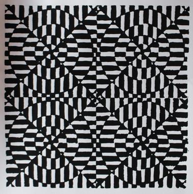 Linocut Print Pattern
